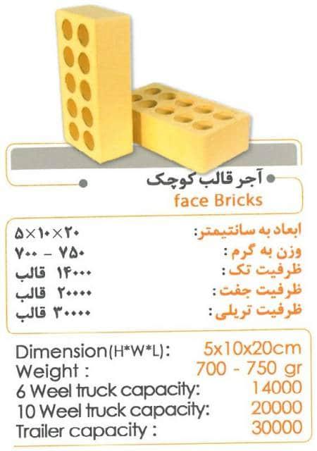 آجرلفتون 5 سانتی درجه یک زرد
